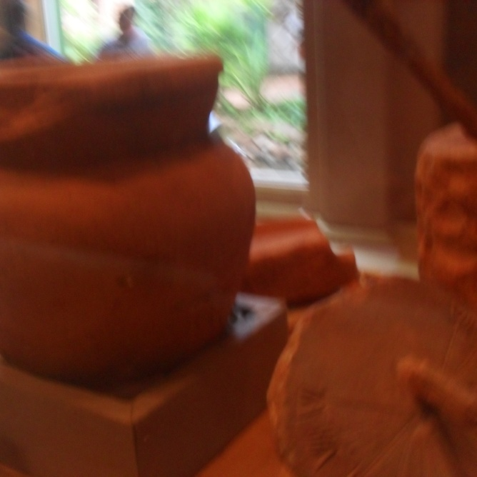 Pottery made by the Guaraní