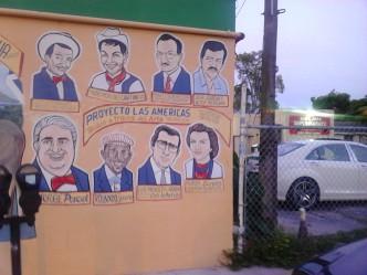 Latino stars street art, Hugo Morel