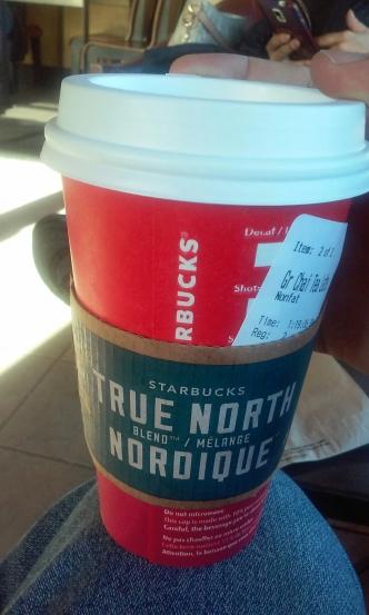 Starbucks with french and English, Hugo Morel