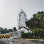 The palm island of Dubai and the Burj al Arab
