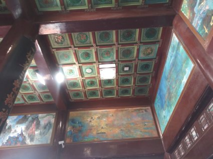 paintings on of the floors of the tower photo courtesy of Hugo Morel